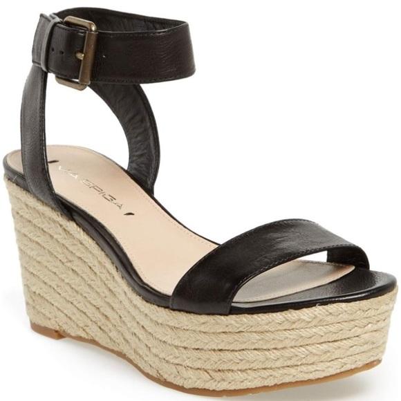 9cd1615fcab Via Spiga Larissa Wedge Espadrille Sandals. M 5a5455455521bede090424d4